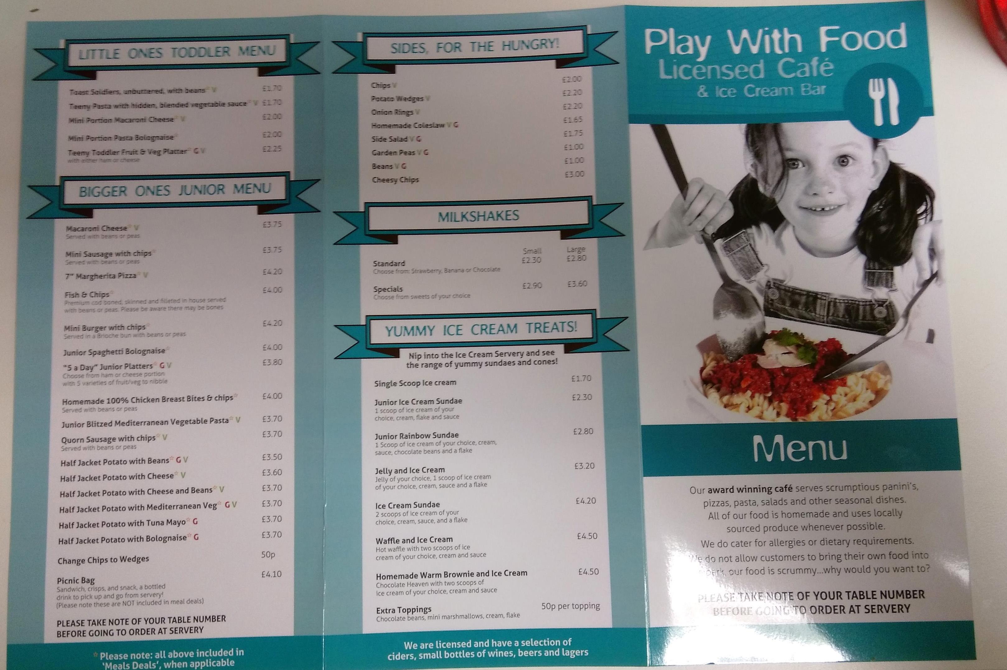 creepy crawlies menu front