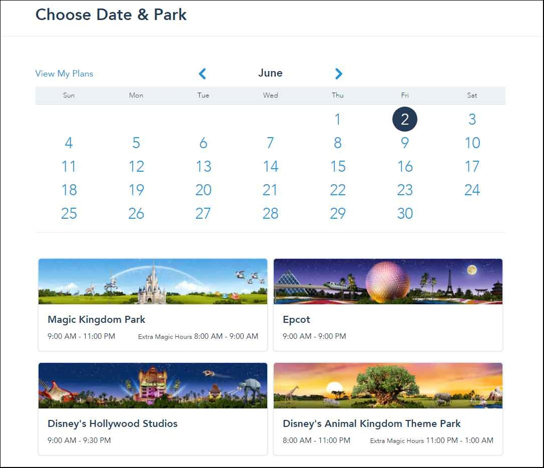 6---Choose-Date-and-Park-for-your-Disney-fast-passes