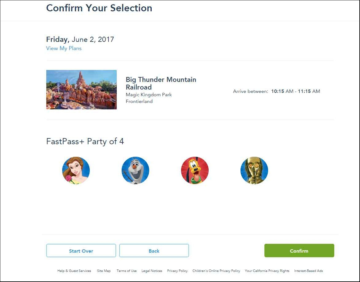 8---confirm-your-selection-of-disney-fast-passes