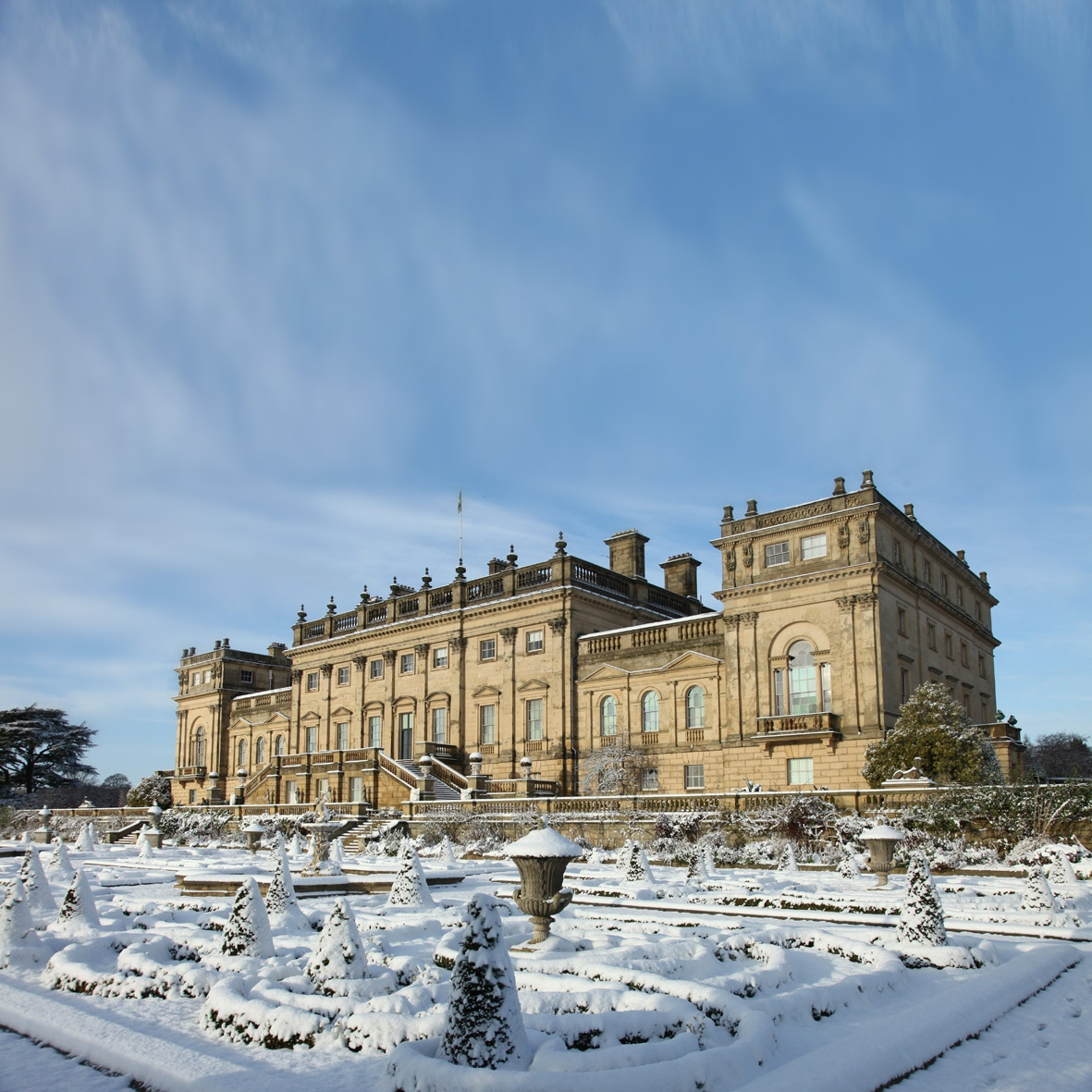 Harewood South Front with snow Parterre 5 credit Anthony Hicks