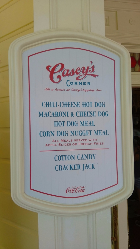 Caseys Corner Snack credits magic kingdom