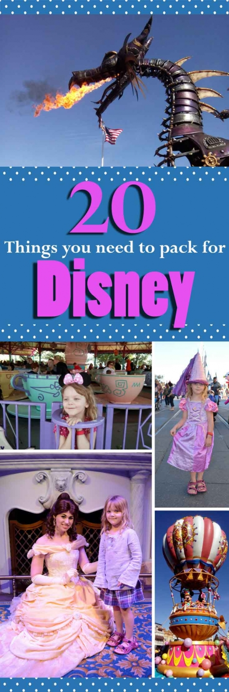 20 Packing Tips for your trip to Disney pin