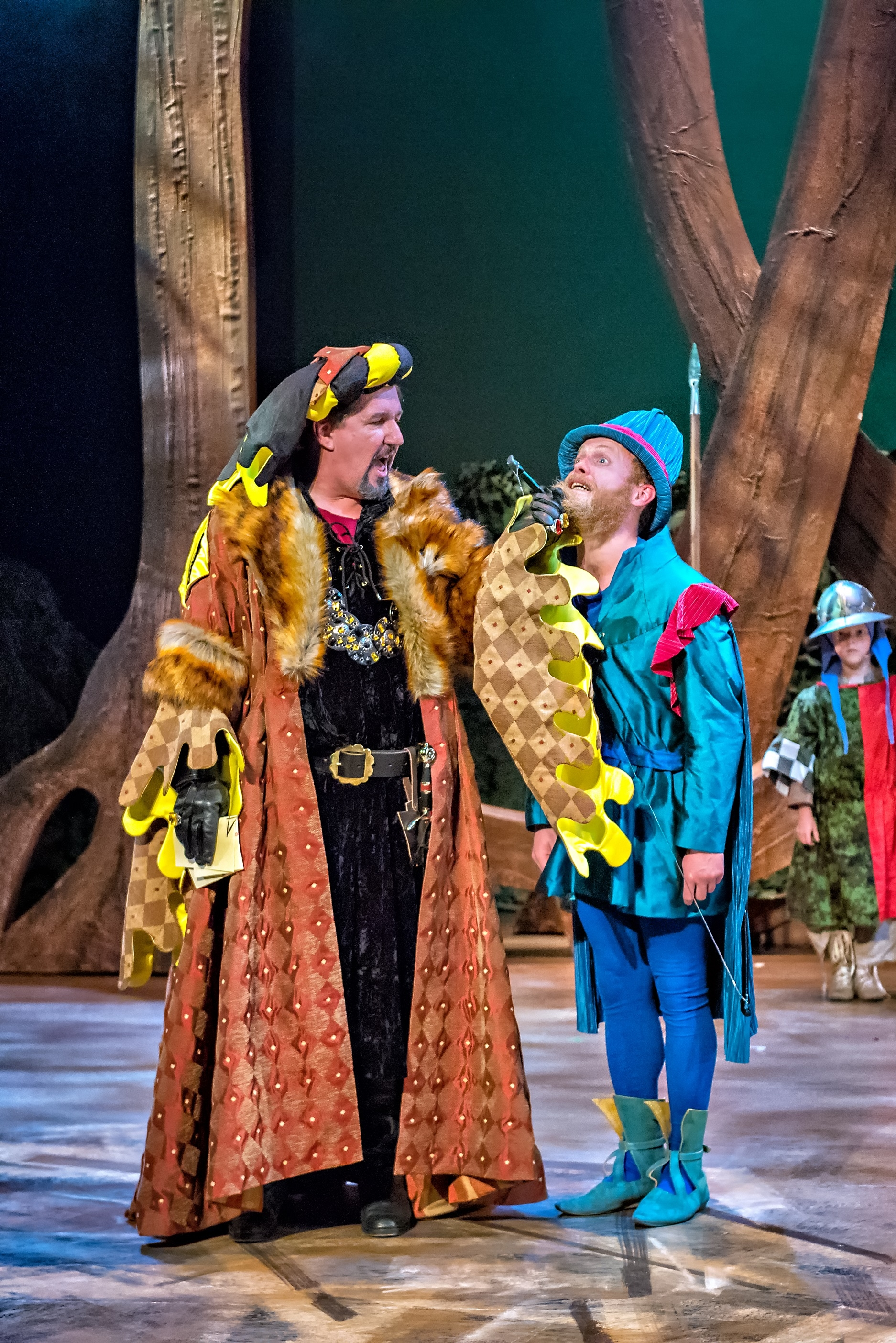 John Elkington & Ed Thorpe in Robin Hood The Arrow of Destiny. Photo Anthony Robling