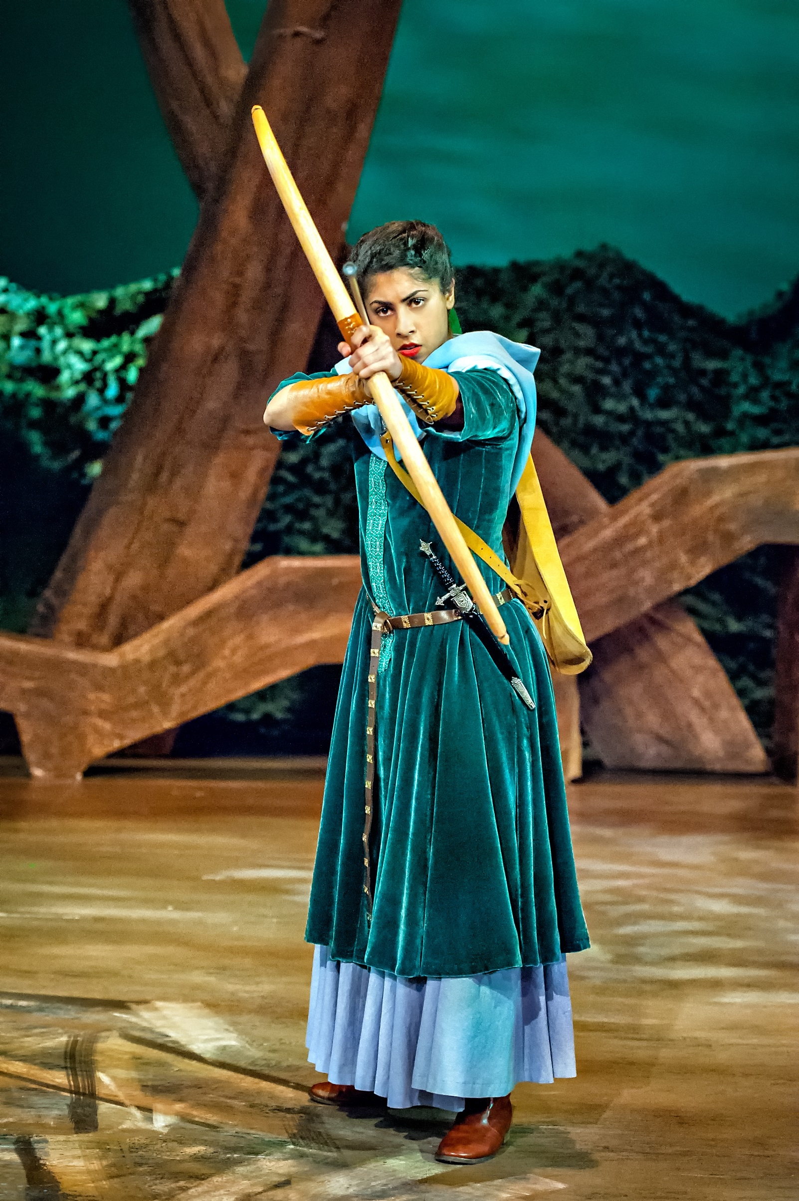Siobhan Athwal as Marian in Robin Hood The Arrow of Destiny. Photo Anthony Robling