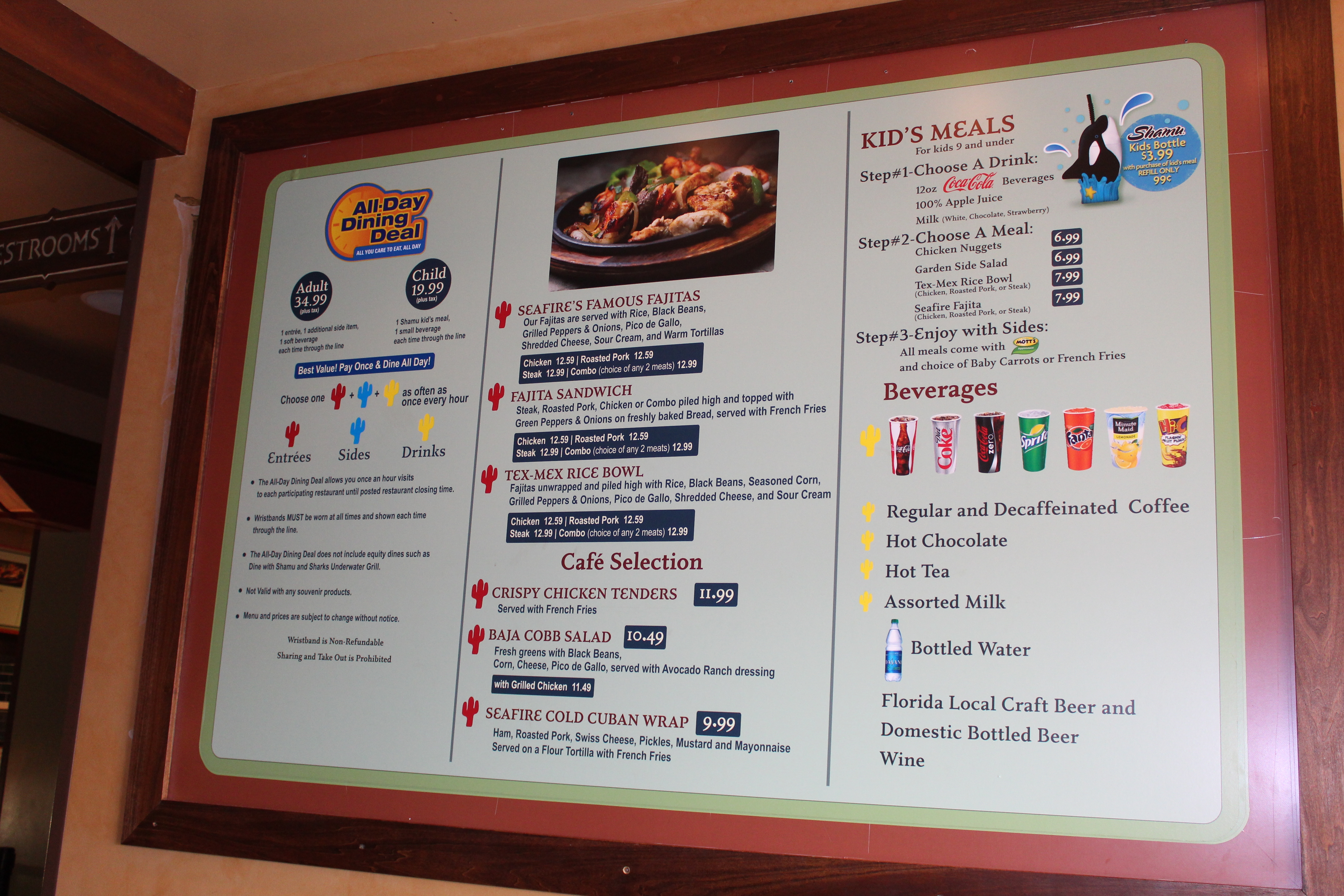 food menus and dining deal, what to eat at SeaWorld Orlando (2)