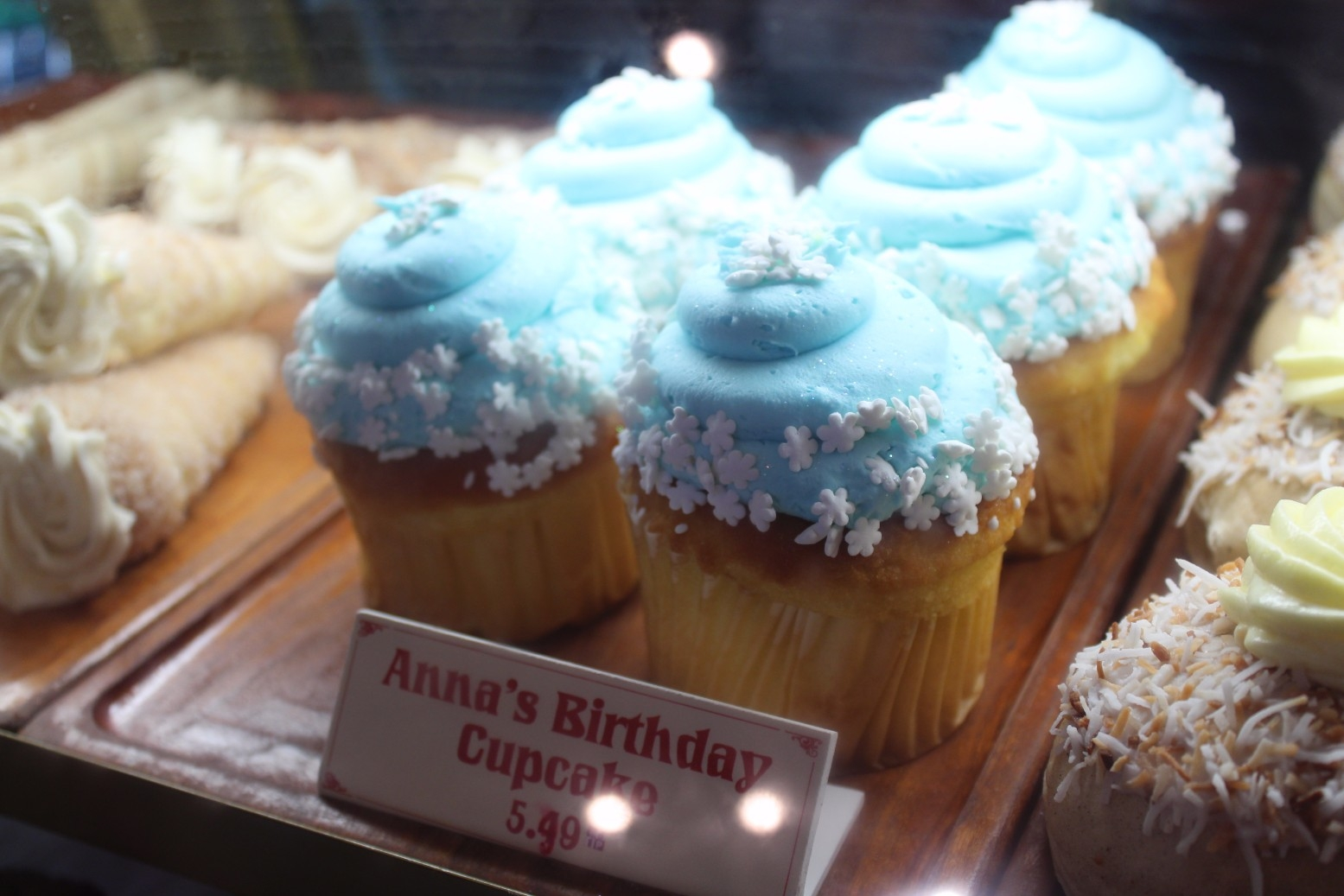 Anna\'s birthday cupcake Norway Bakery Epcot (1)