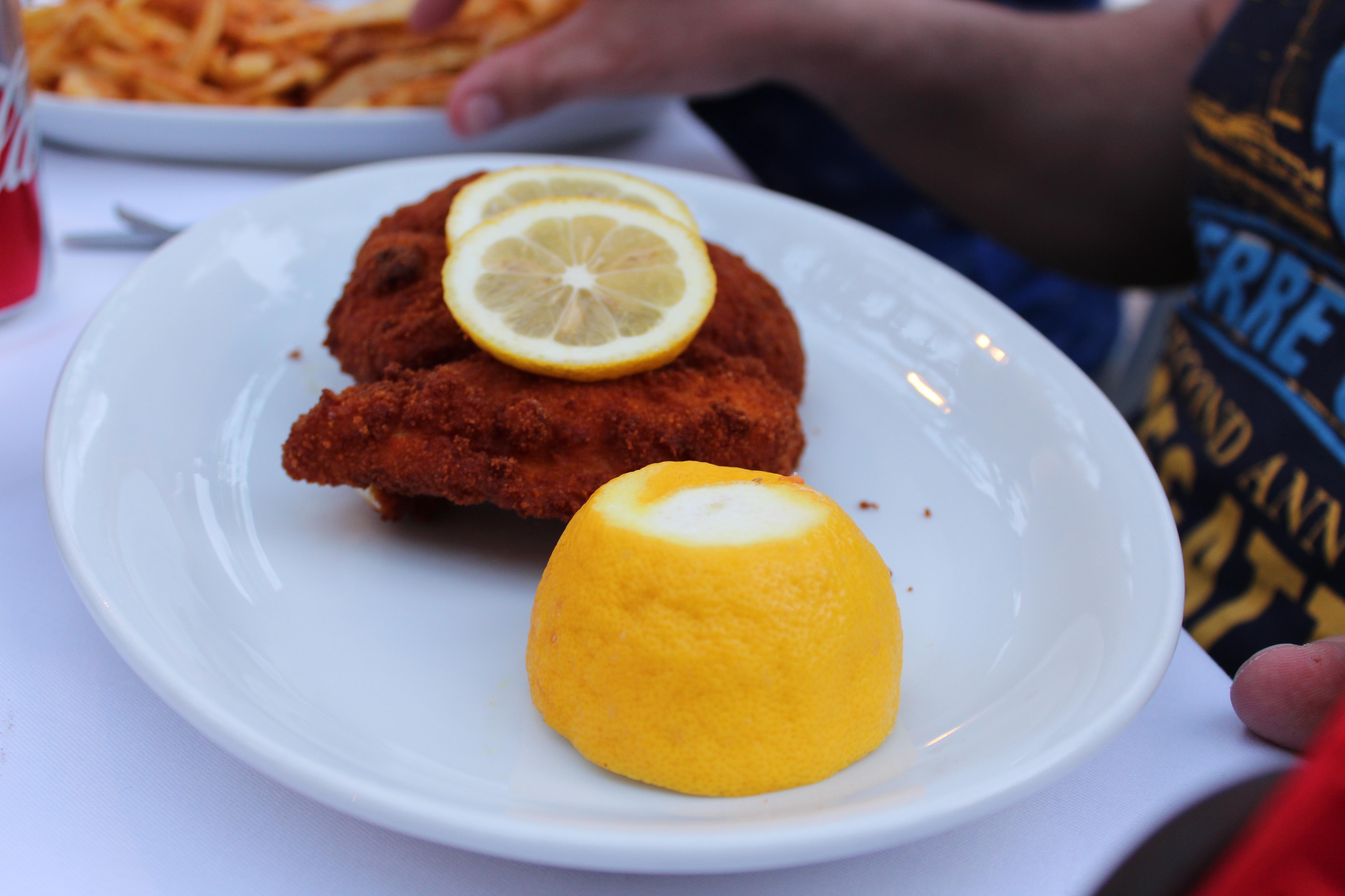 restaurants in stoupa melissa (chickenschnitzel)