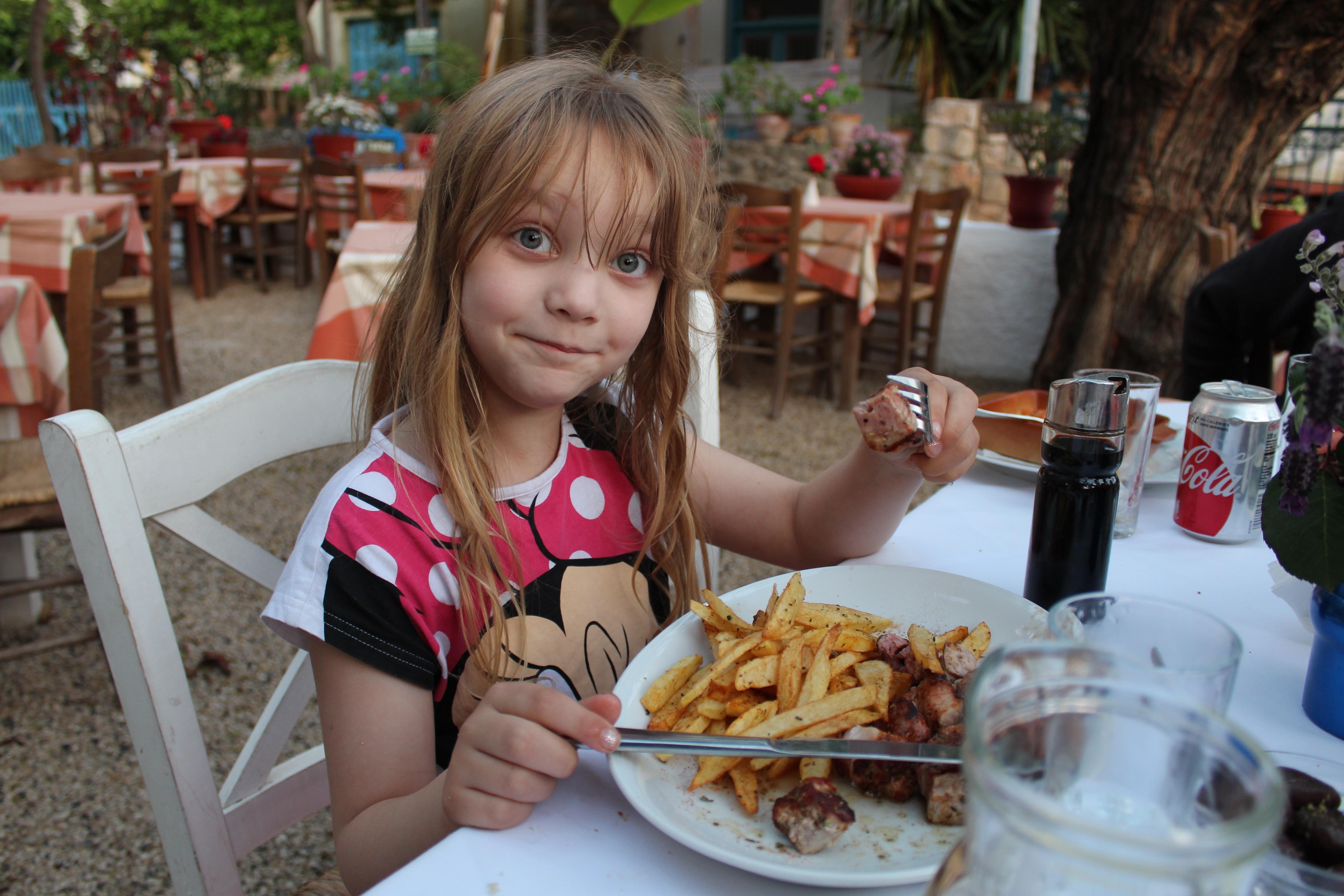 restaurants in stoupa melissa (pork souvlaki and chips)