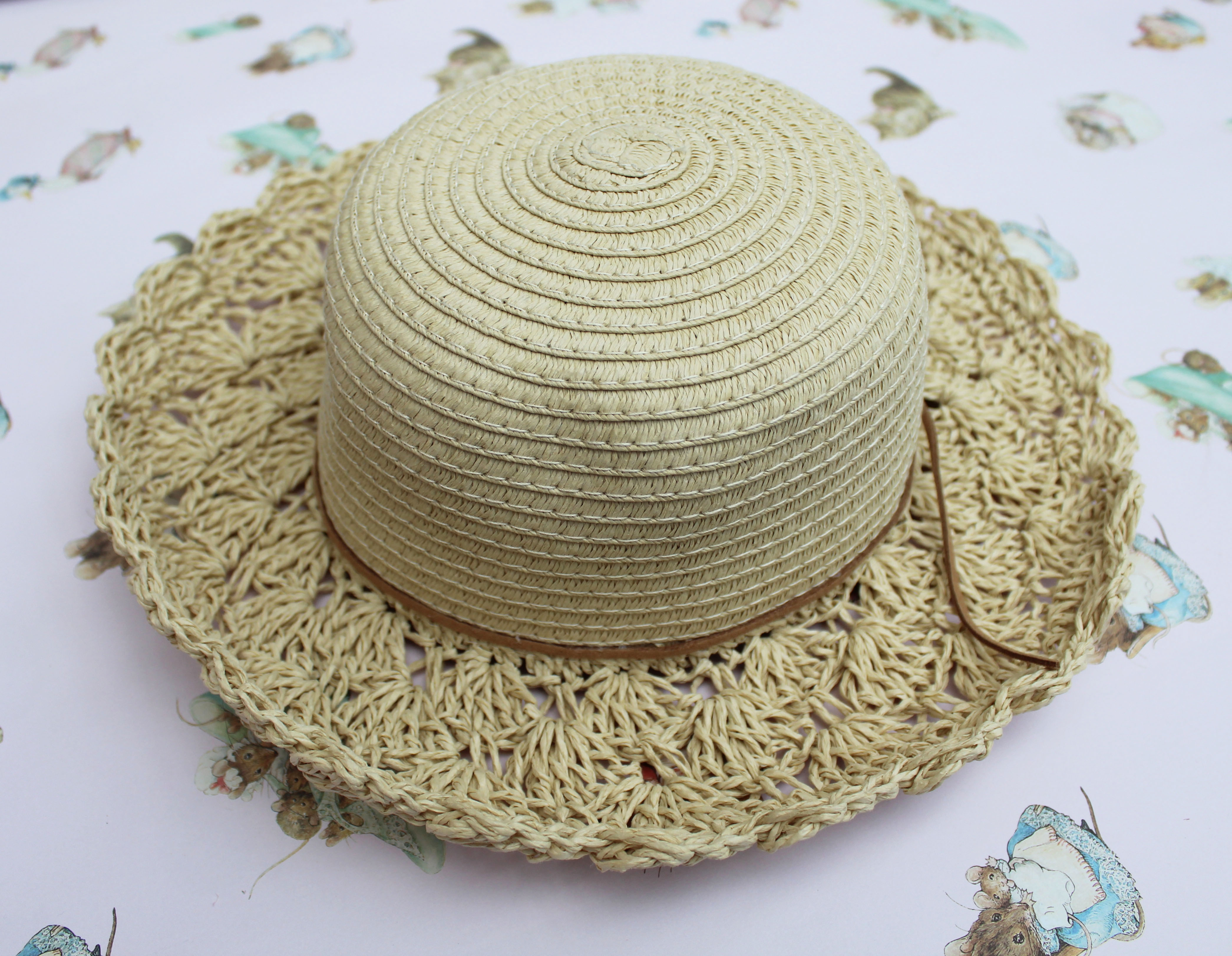 how to make a summer straw hat with flowers (3)