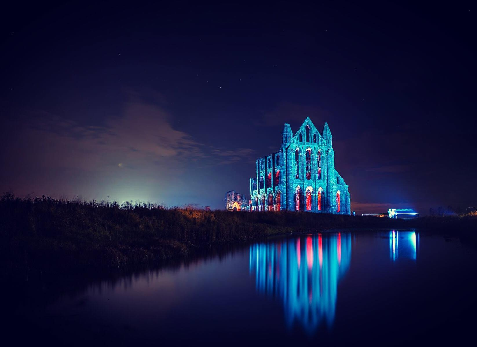 Illuminated Whitby Abbey SUPPLIED BY ENGLISH HERITAGE