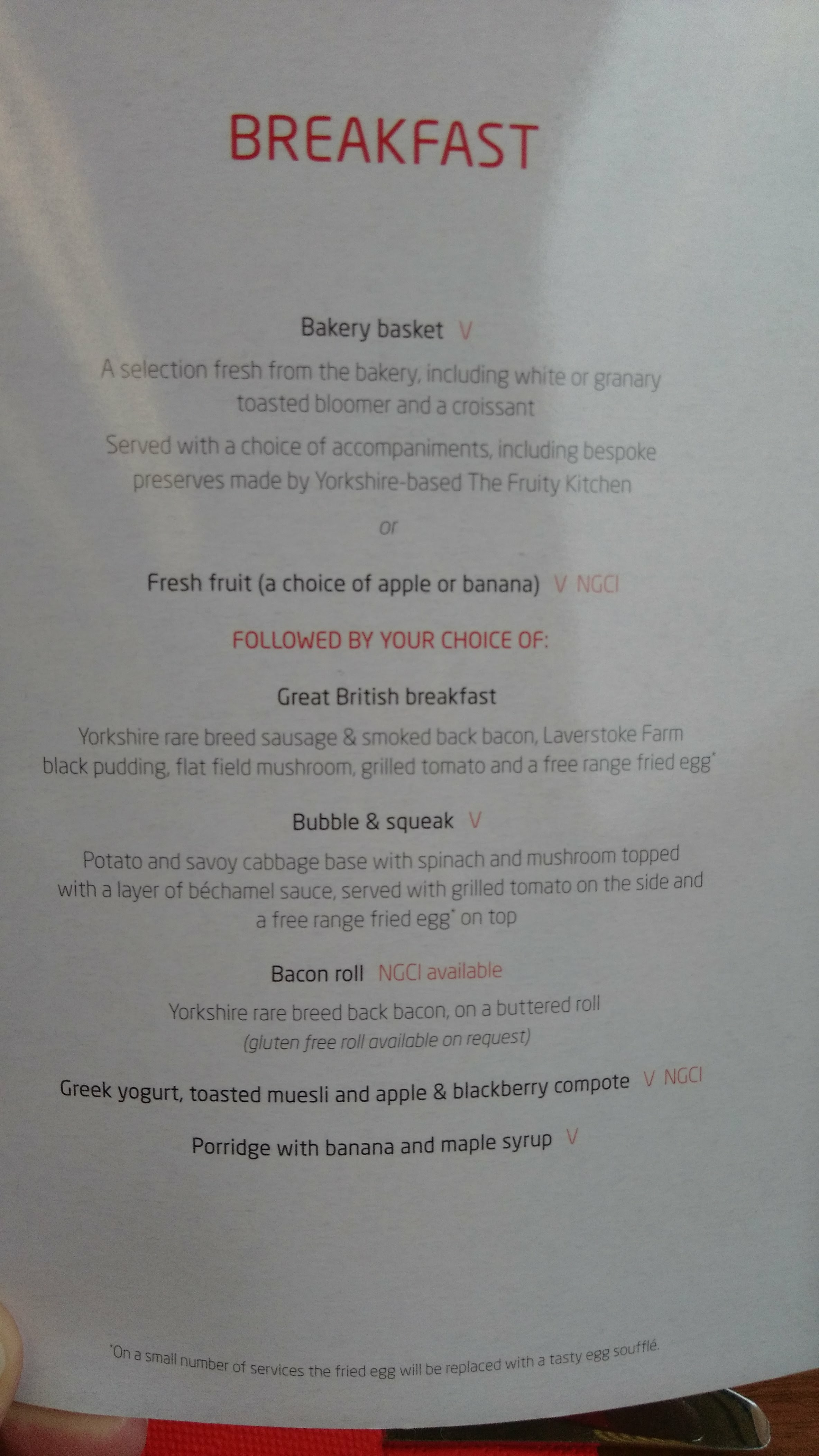 The Rail Restaurant Breakfast Menu