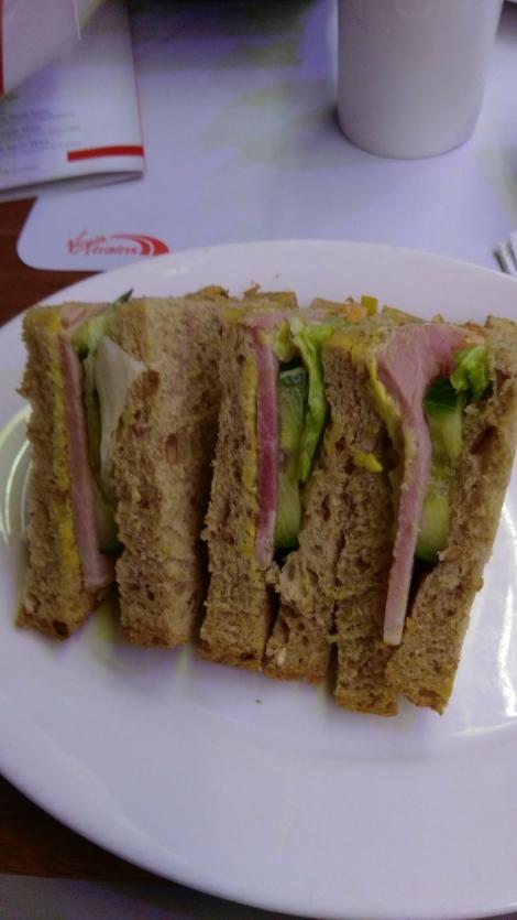 Virgin Trains First Class (ham sandwich) (4)