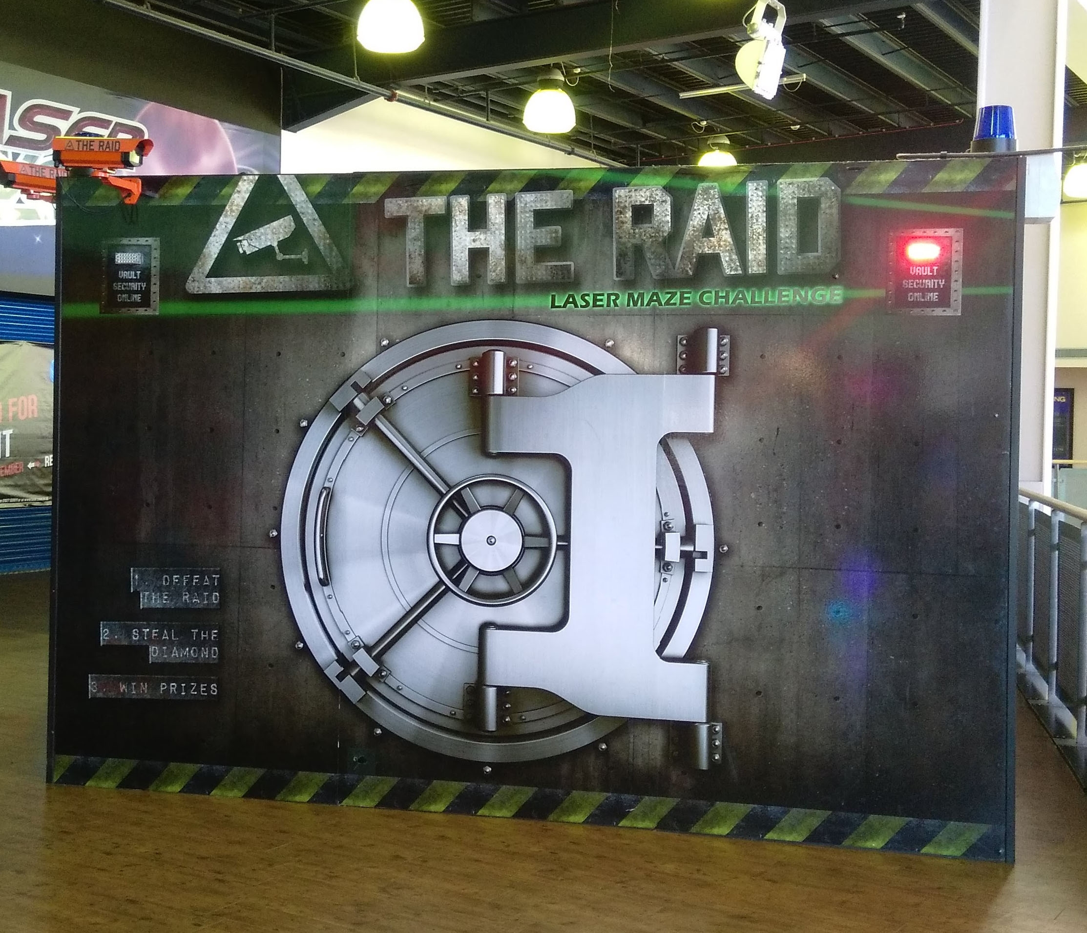 the raid at Xscape Castleford