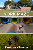 york maze - panto on a tractor