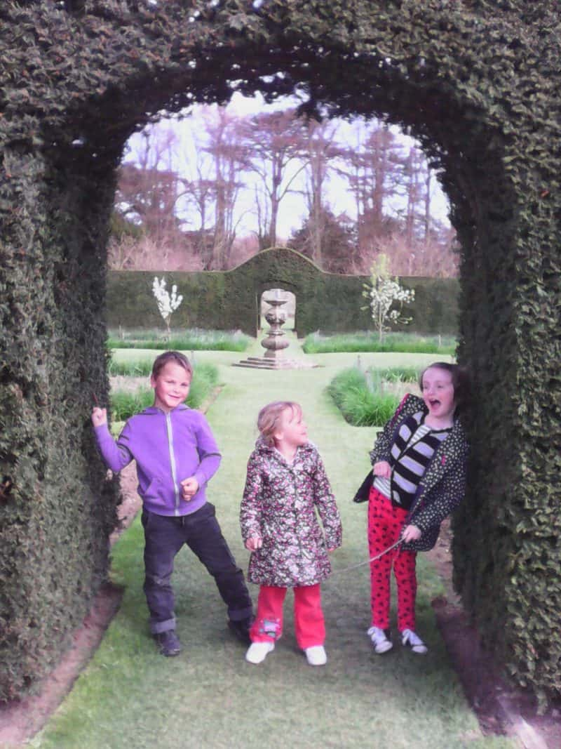 Kids at Castle Howard