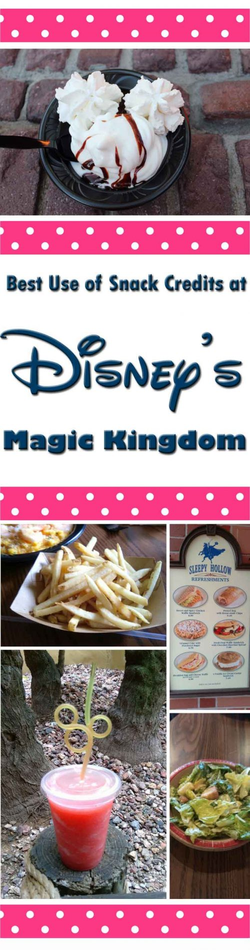best use of snack credits in Magic Kingdom