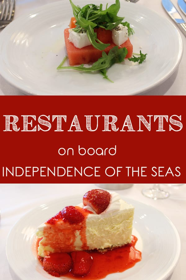 Restaurants and Food Options on board Independence of the Seas
