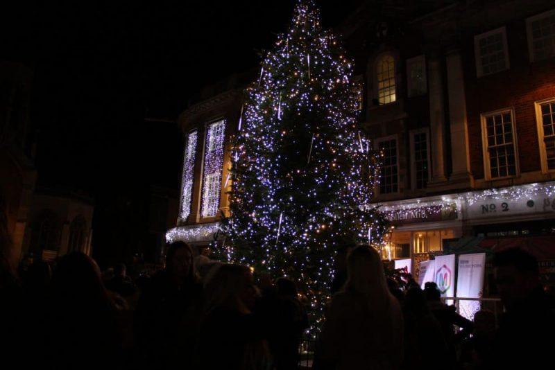Christmas Tree outside Betty's York