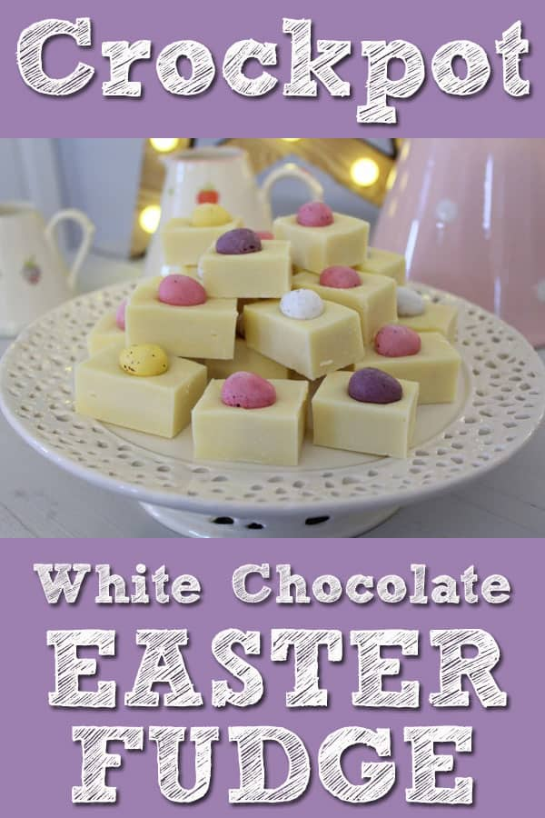 Slow Cooker White Chocolate Easter Fudge
