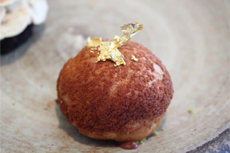 Caramel gold choux bun at Hudson's The Grand, York