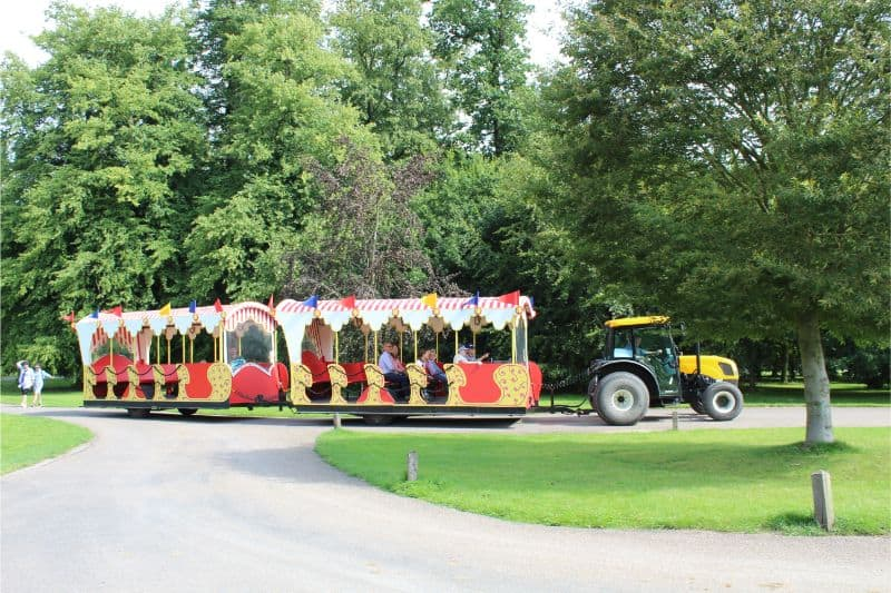 Land train at Castle Howard