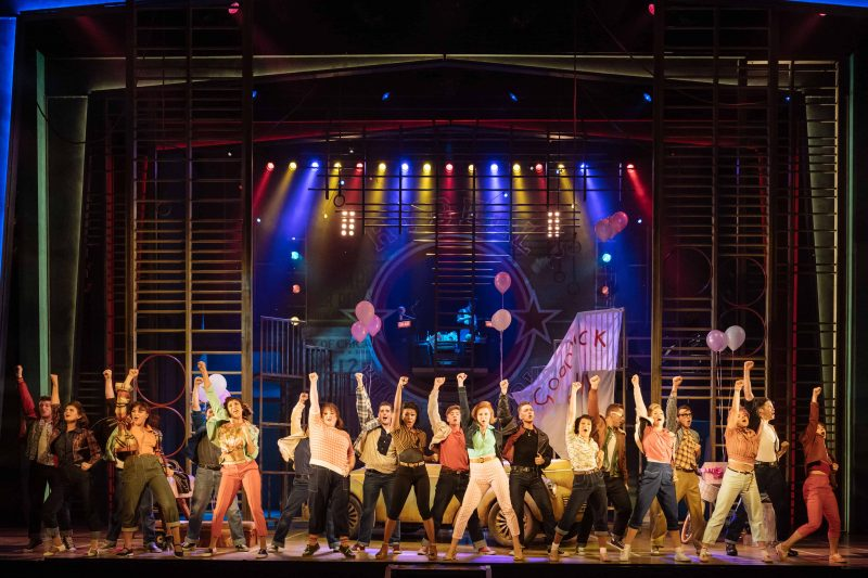 The cast of GREASE at Leeds Grand theatre credit Manuel Harlan