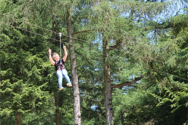 Tree Top Adventure at Go Ape Dalby Forest