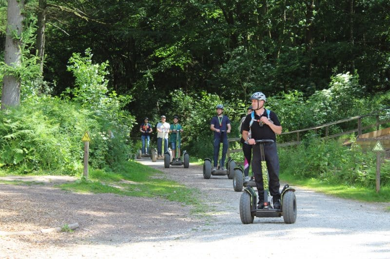 Segways at Dalby Forest near Pickering