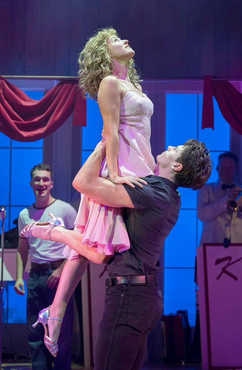 Kira Malou (Baby) Michael O'Reilly (JDirty Dancing Leeds Grand Theatre Baby & Johnny Photo credit Alastair Muir