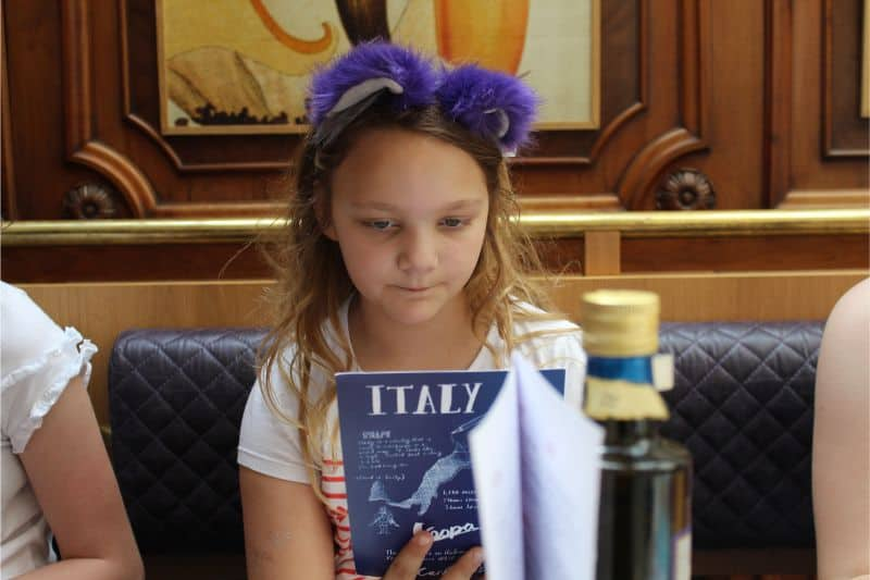 Carluccio's Kids Menu