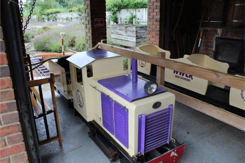 Land train at Wolds Way Lavender