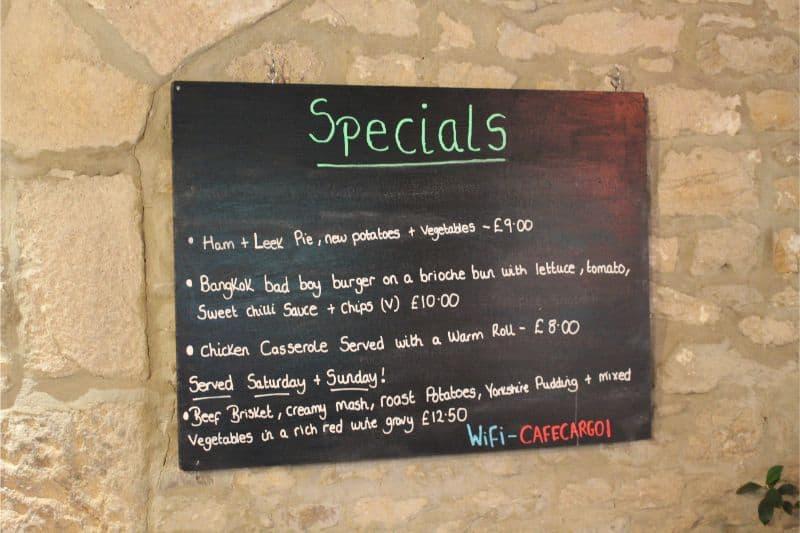 Cafe Cargo Specials