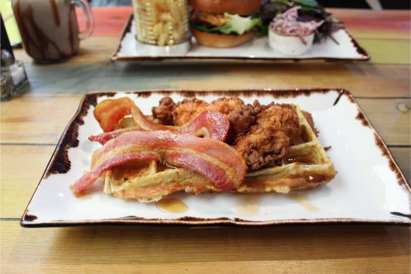 Chicken and Waffle at Fancy Hanks York