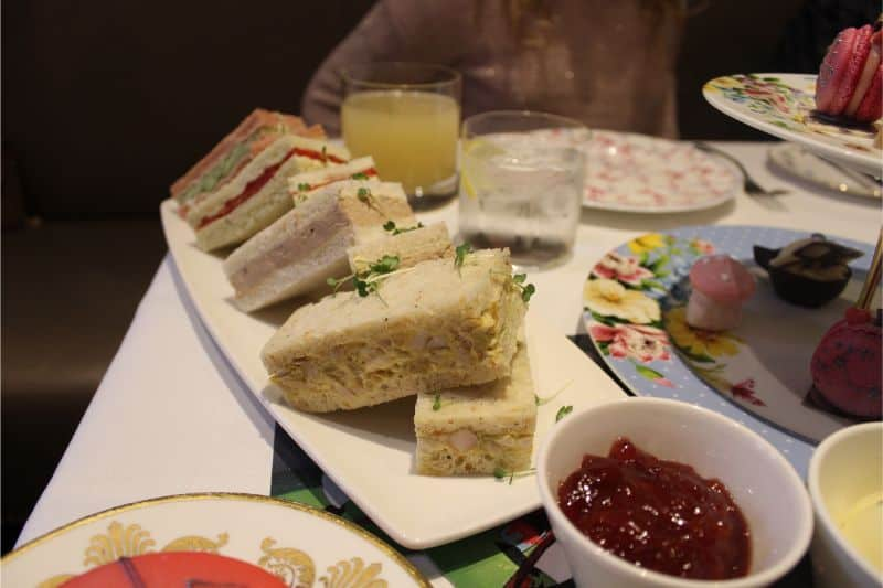 Sandwiches at the Taj, 51 Buckingham Gate, London