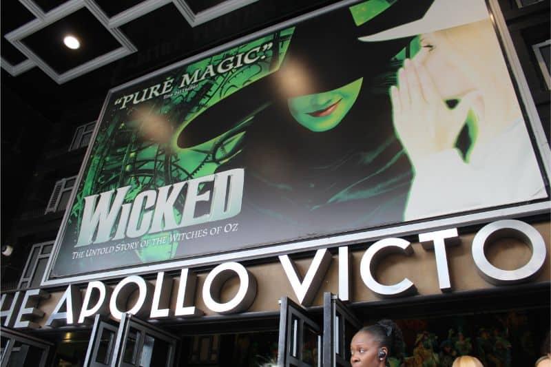 Wicked the Musica at the Apollo Victoria London