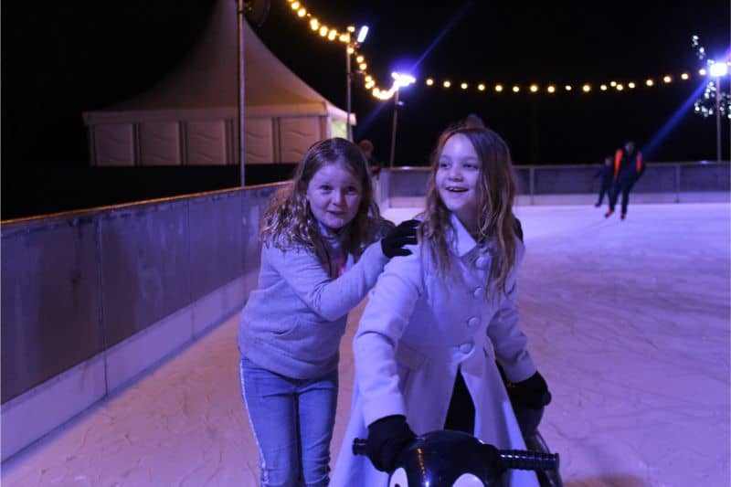 Ice skating rink at Lotherton