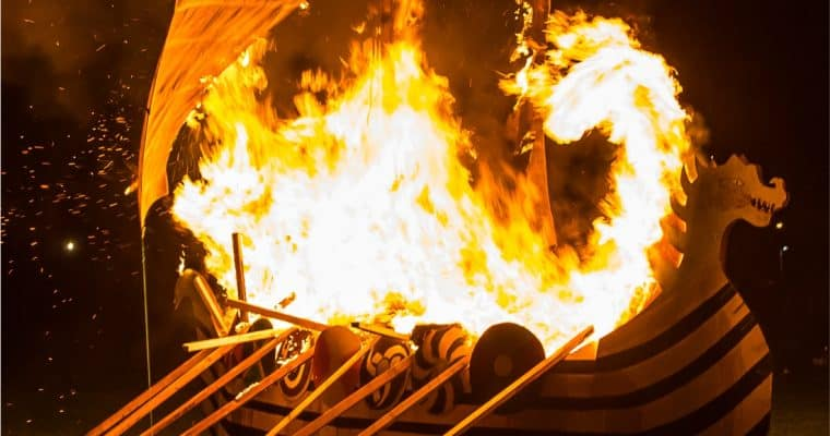 Flamborough Fire Festival on New Year's Eve – 2000 Viking Torches!