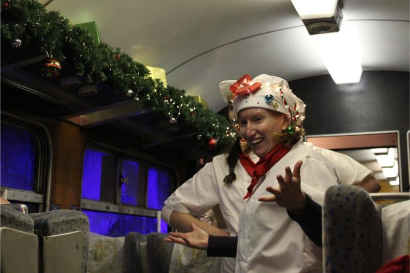 The chefs on board The Polar Express.