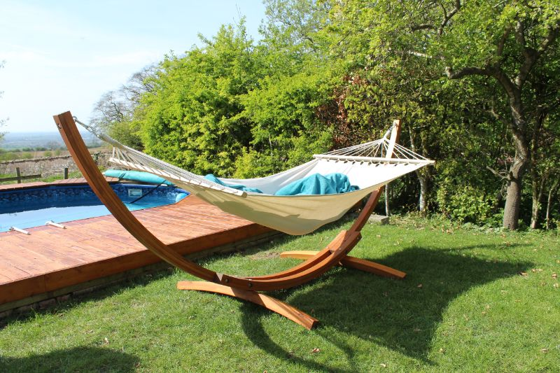 Gorgeous Freestanding Wooden Hammock from VonHaus