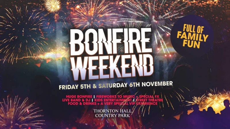 Bonfire night in yorkshire and fireworks